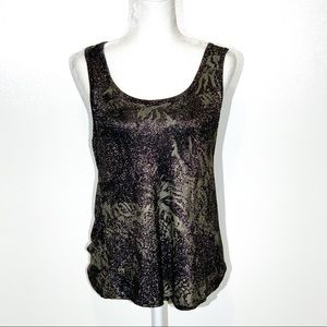 BKE Shimmer Tank Top Size- Small